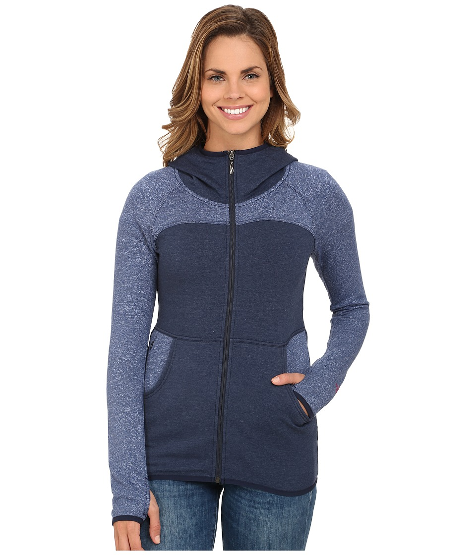 The North Face - Harmony Park Pullover (Cosmic Blue Heather) Women's Long Sleeve Pullover