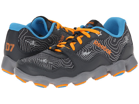 Reebok Kids - Planes ATV19 (Little Kid) (Gravel/Flat Grey/Orange/Energy Blue/Silver/Blue) Boys Shoes