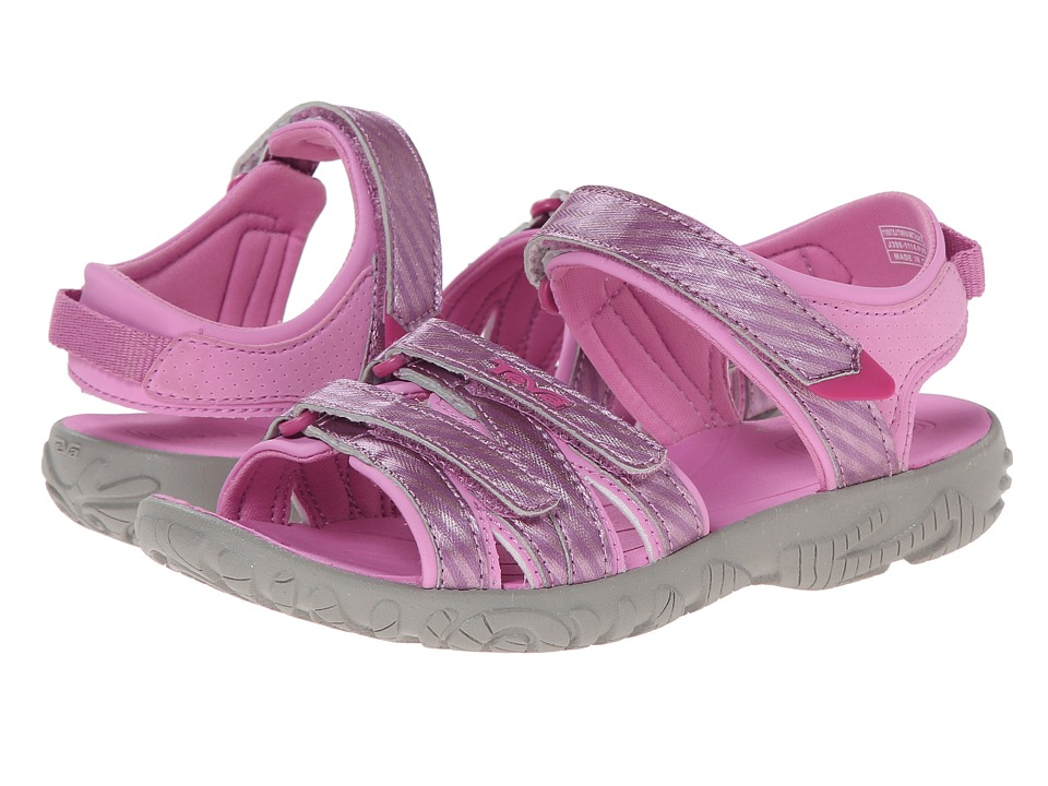 Teva Kids - Tirra (Toddler/Little Kid/Big Kid) (Metallic Stripe Pink) Girls Shoes