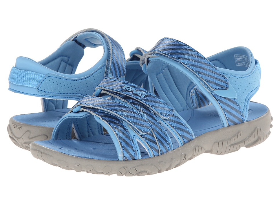 Teva Kids - Tirra (Toddler/Little Kid/Big Kid) (Metallic Stripe Blue) Girls Shoes