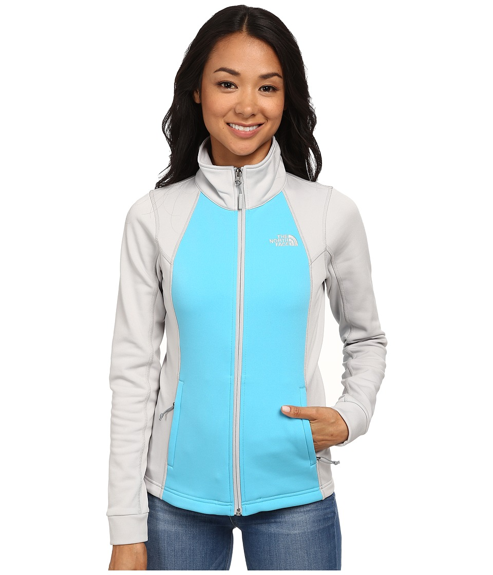 The North Face - Momentum Jacket (Turquoise Blue/High Rise Grey) Women's Coat