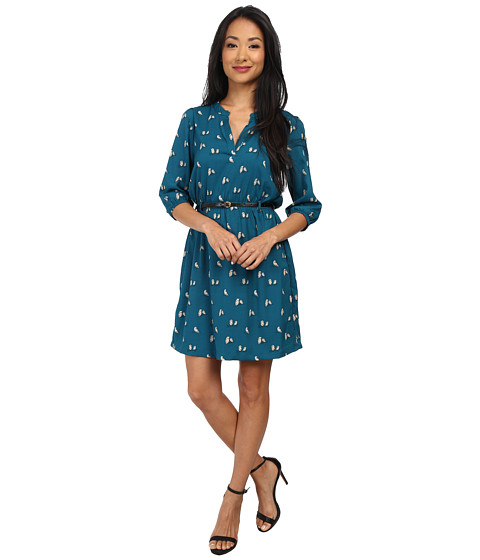Yumi - Twin Owl Dress (Teal) Women's Dress