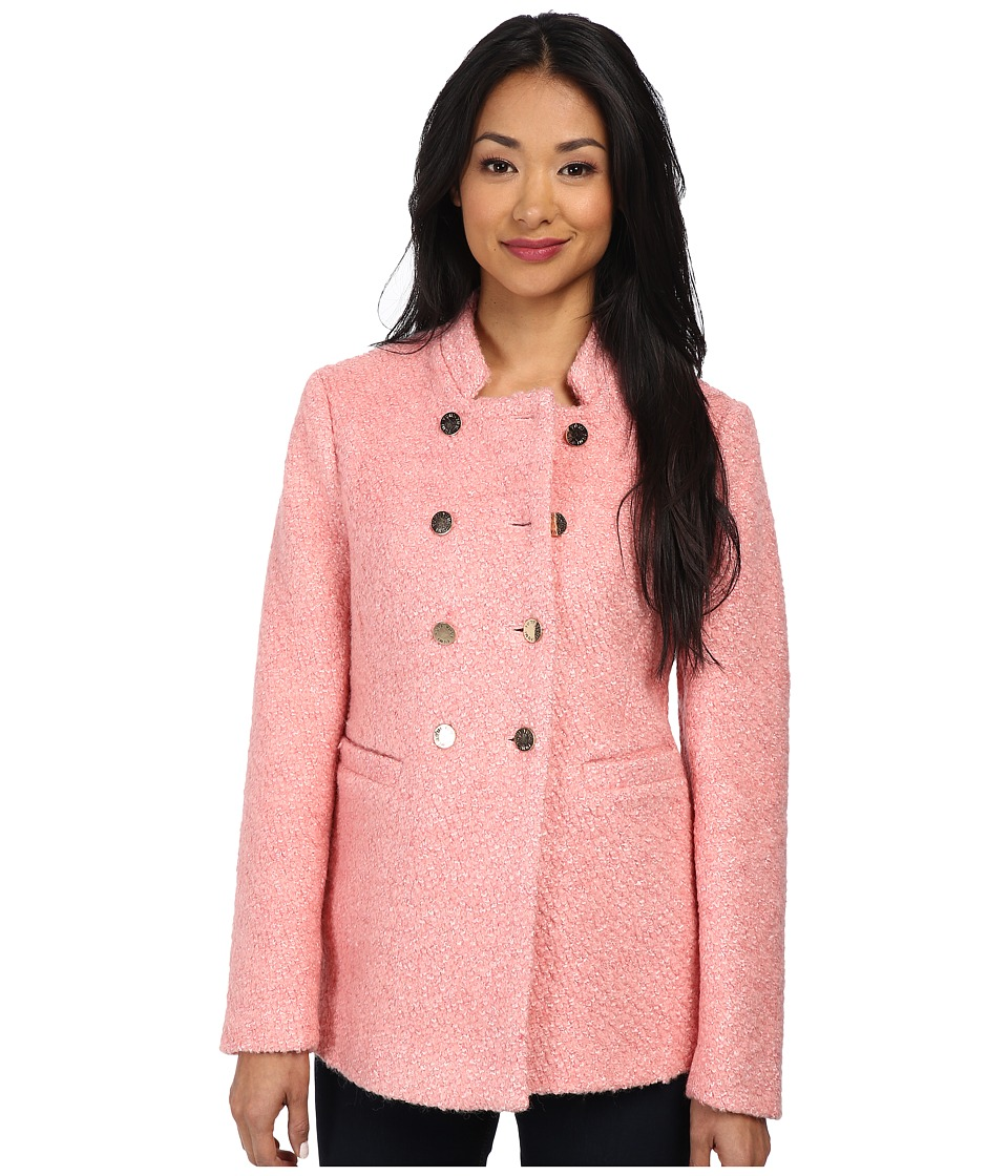 Yumi - Pink Short Coat (Pink) Women's Coat