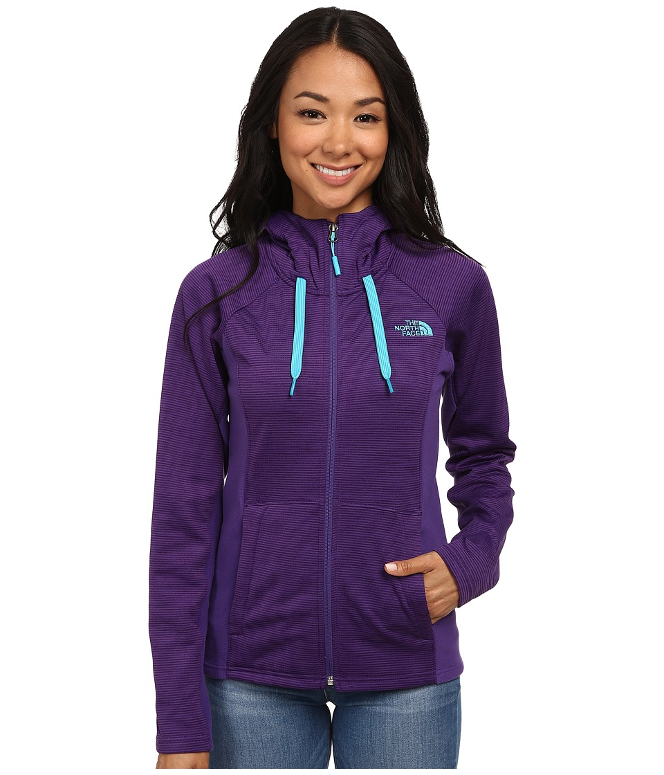 The North Face - Castle Crag Hoodie (Hero Purple Stripe/Hero Purple) Women's Sweatshirt
