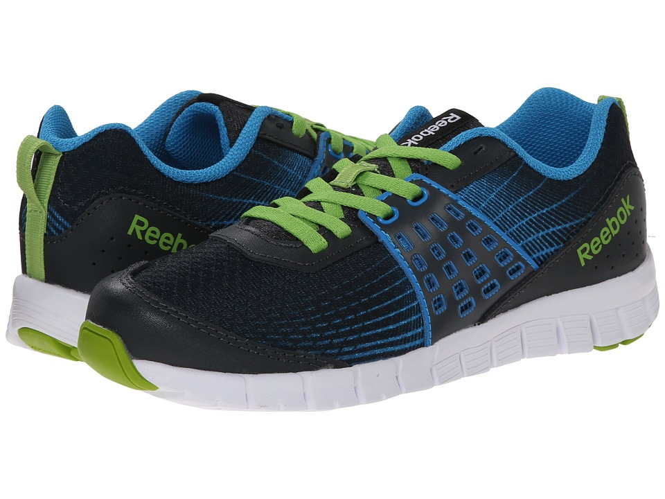 Reebok Kids - Z Dual Rush (Little Kid) (Gravel/Energy Blue/Ultra Lime/White) Boys Shoes