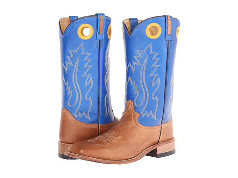 Old West Boots - BSM1829 (Tan Canyon/Blue) Cowboy Boots