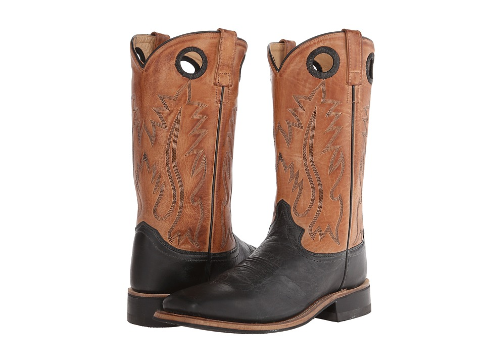 Old West Boots - BSM1810 (Black/Tan Canyon) Cowboy Boots