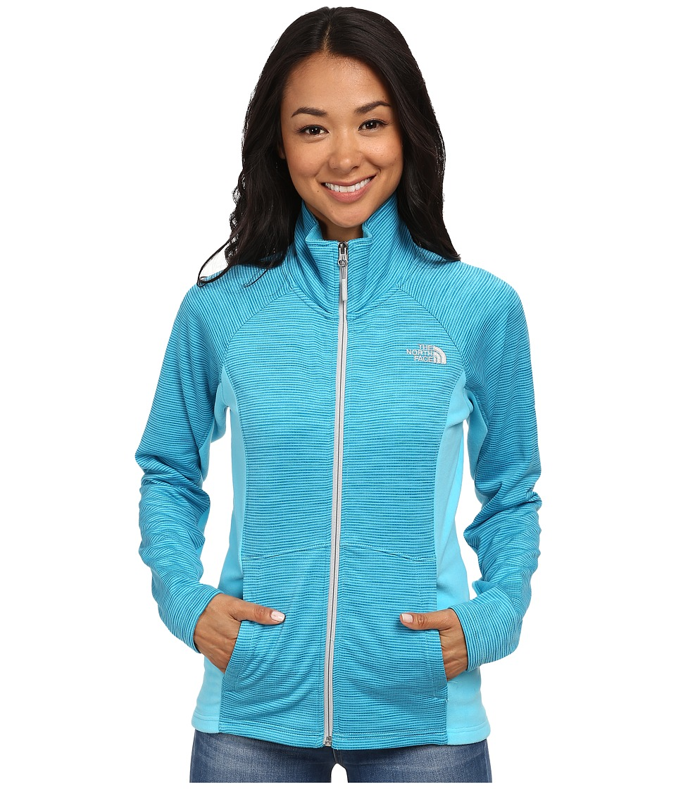 The North Face - Castle Crag Full Zip (Turquoise Blue Stripe/Turquoise Blue) Women's Coat