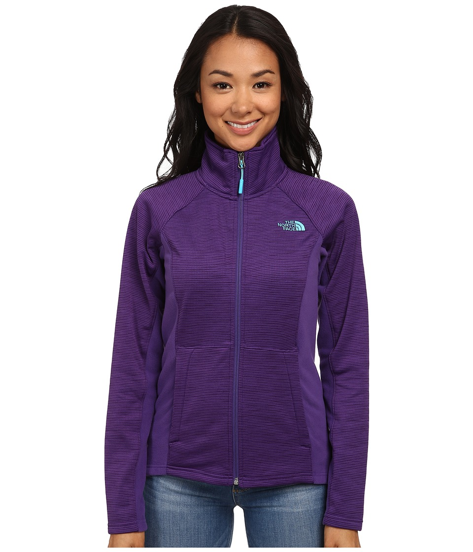The North Face - Castle Crag Full Zip (Hero Purple Stripe/Hero Purple) Women's Coat