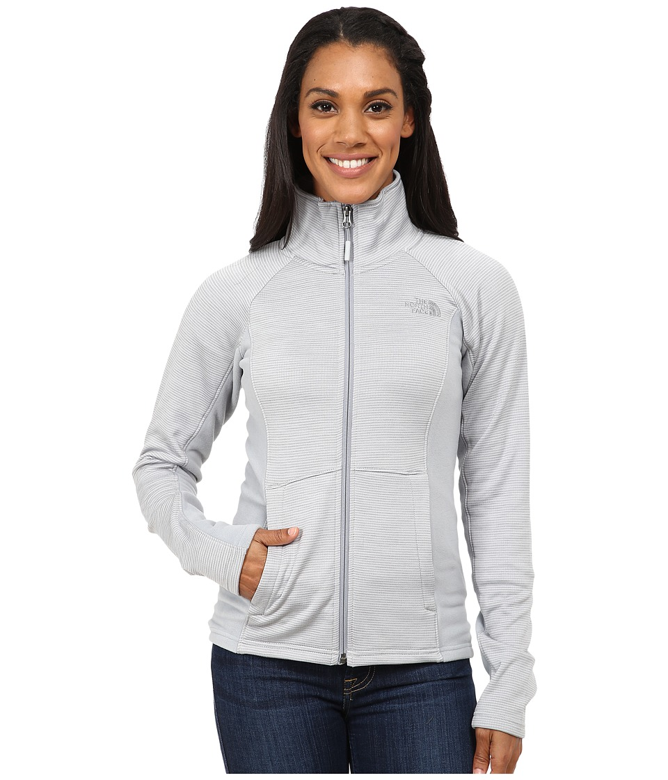 The North Face - Castle Crag Full Zip (High Rise Grey Stripe/Mid Grey) Women's Coat