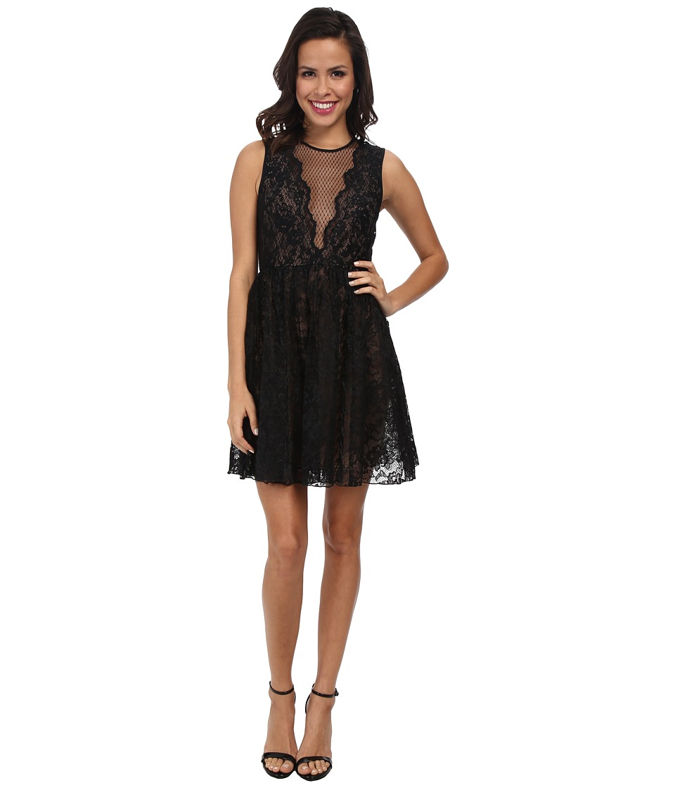 ABS Allen Schwartz - Engineered Lace Cocktail Dress (Black) Women's Dress