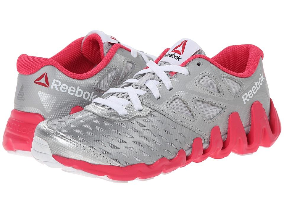 Reebok Kids - ZigTech Big N Tough (Little Kid) (Silver Metallic/Steel/Blazing Pink/White) Girls Shoes