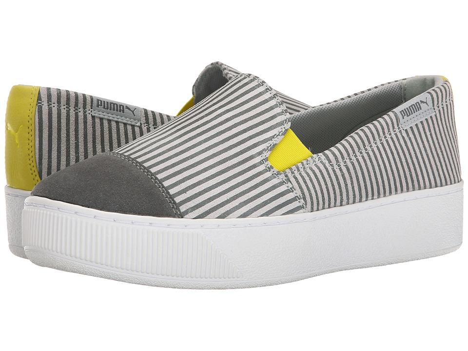 PUMA - PC Extreme Slip-On Blocks and Stripes (Steel Grey/Grey Violet) Women's Slip on Shoes