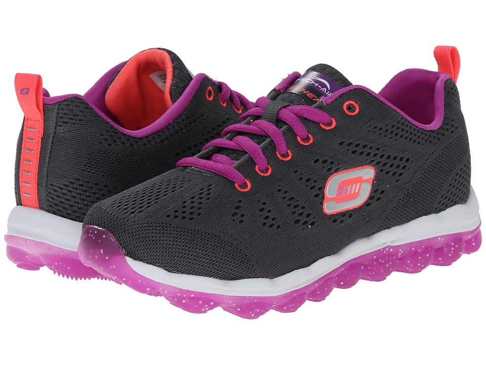 SKECHERS KIDS - Skech Air-Inspire Lights 80222L (Little Kid/Big Kid) (Charcoal/Purple) Girl's Shoes