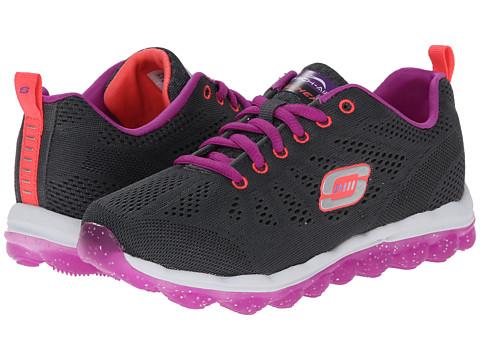 SKECHERS KIDS - Skech Air-Inspire Lights 80222L (Little Kid/Big Kid) (Charcoal/Purple) Girl's Shoes