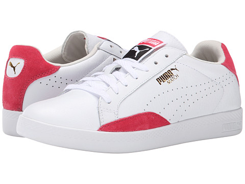 PUMA - Match Lo Basic Sports (White/Geranium) Women's Shoes