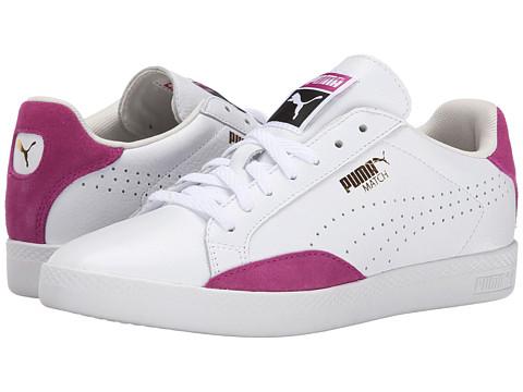 PUMA - Match Lo Basic Sports (White/Vivid Viola) Women's Shoes
