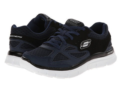 SKECHERS KIDS - Flex Advantage - Master Plan 95522L (Little Kid/Big Kid) (Navy/Black) Boy's Shoes