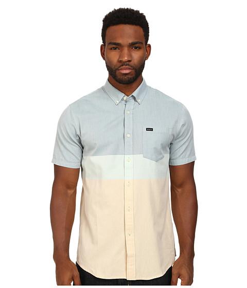 RVCA - That'll Do Block S/S Woven (Dirty Blue) Men's Short Sleeve Button Up