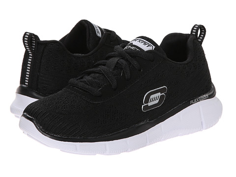 SKECHERS KIDS - Equalizer - Quick Reaction 95516L (Little Kid/Big Kid) (Black/White) Boy's Shoes