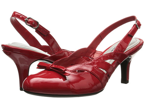 Easy Street - Augustine (Bright Red Patent) Women's Shoes