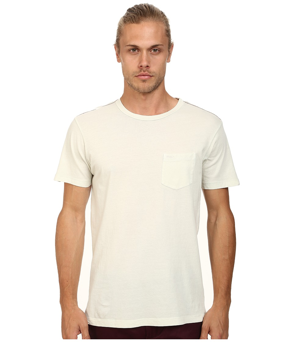 RVCA - PTC 2 Pigment Knit Tee (Silver Bleach) Men's T Shirt