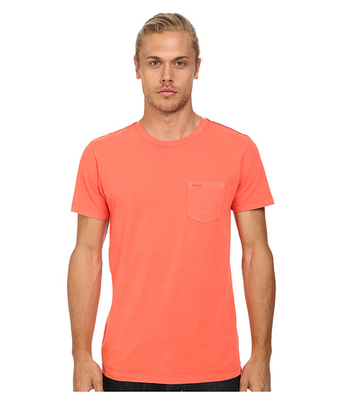 RVCA - PTC 2 Pigment Knit Tee (Melon) Men