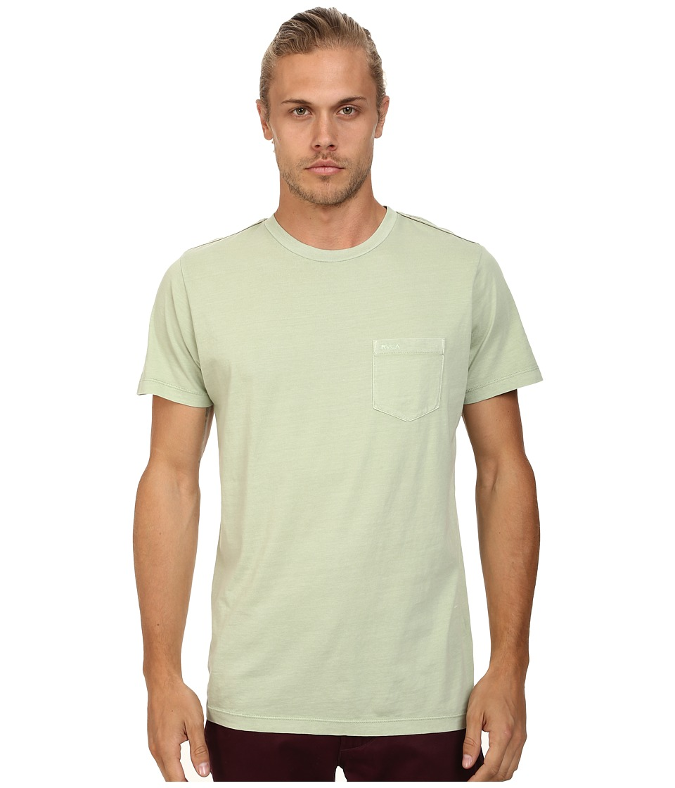 RVCA - PTC 2 Pigment Knit Tee (Smoke Green) Men's T Shirt