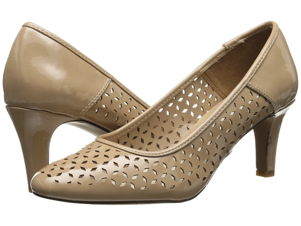Easy Street - Belair (Nude Patent) Women's Slip on Shoes