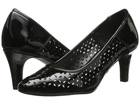Easy Street - Belair (Black Patent) Women's Slip on Shoes