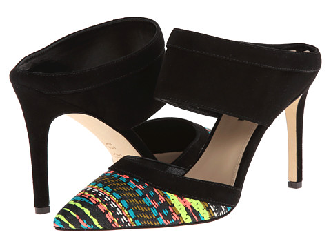 Via Spiga - Dahlia 2 (Multi/Black/Black/Woven Multi Fabric/Kid Suede) High Heels