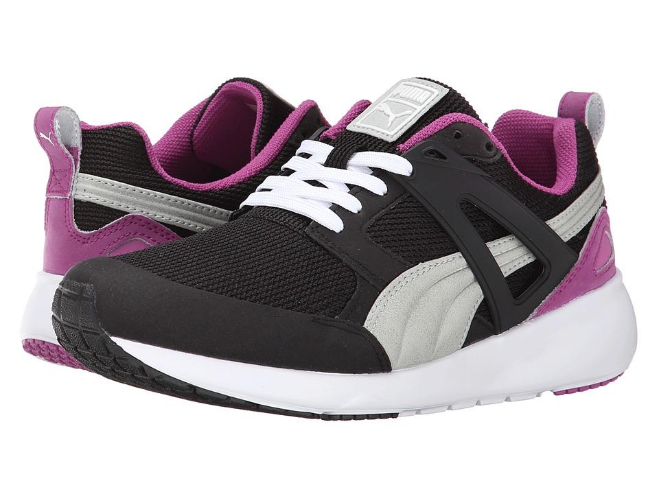 PUMA - Arial Basic Sports (Black/Vivid Viola) Women's Shoes