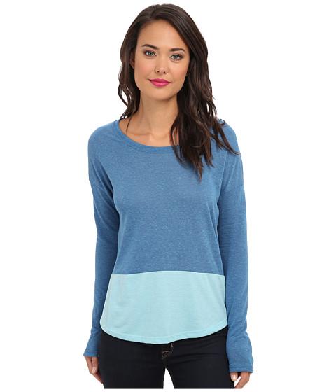 Alternative - Eco-Jersey Tee (Eco Splash Steel Blue) Women's Long Sleeve Pullover
