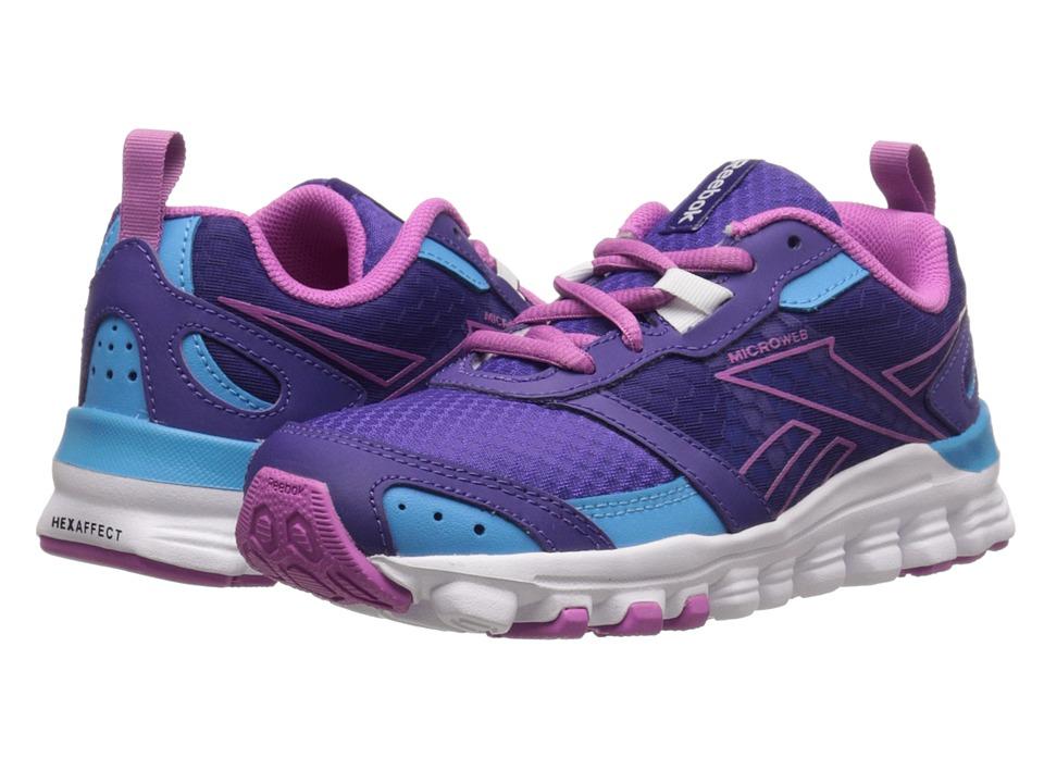 Reebok Kids - HexAffect Run (Little Kid) (Sport Violet/Blue Beam/Ultraberry/White) Girls Shoes
