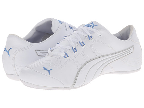 PUMA - Soleil v2 Patent (White/Puma Silver) Women's Shoes