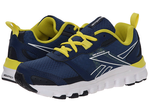 Reebok Kids - HexAffect Run (Little Kid) (Batik Blue/Faux Indigo/Stinger Yellow/White) Boys Shoes