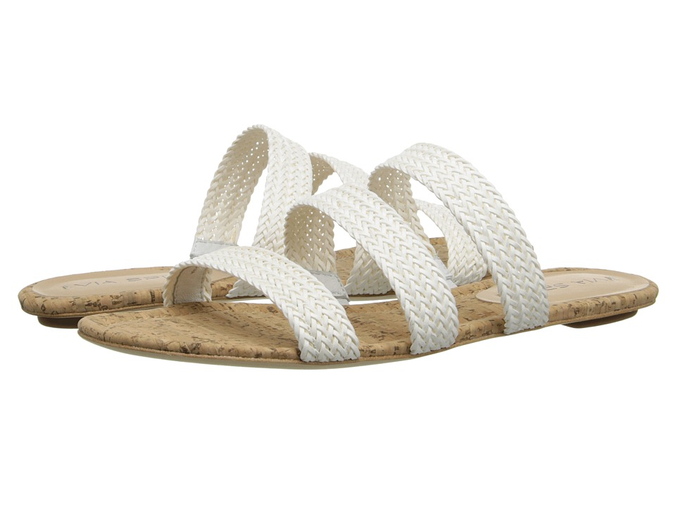 Via Spiga - Ilaria (White/Natural/Woven Straps) Women