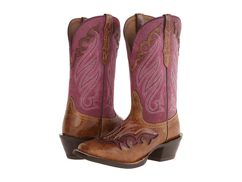 Ariat - Trail Head (Wildhorse Tan/Aged Grape) Cowboy Boots