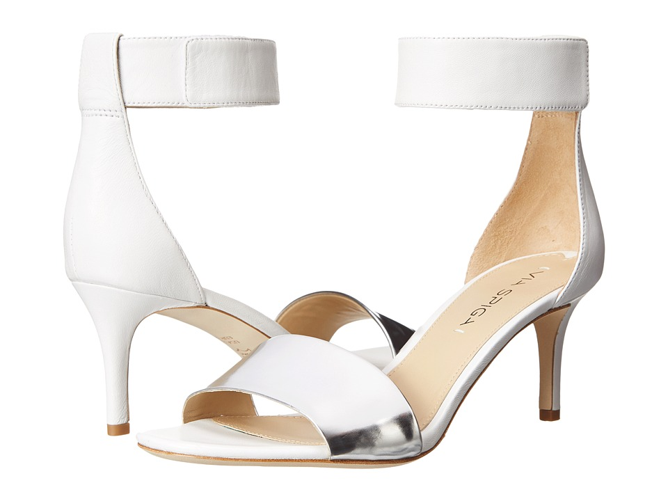 Via Spiga Lae (Silver/White Specchio/Nappa) High Heels