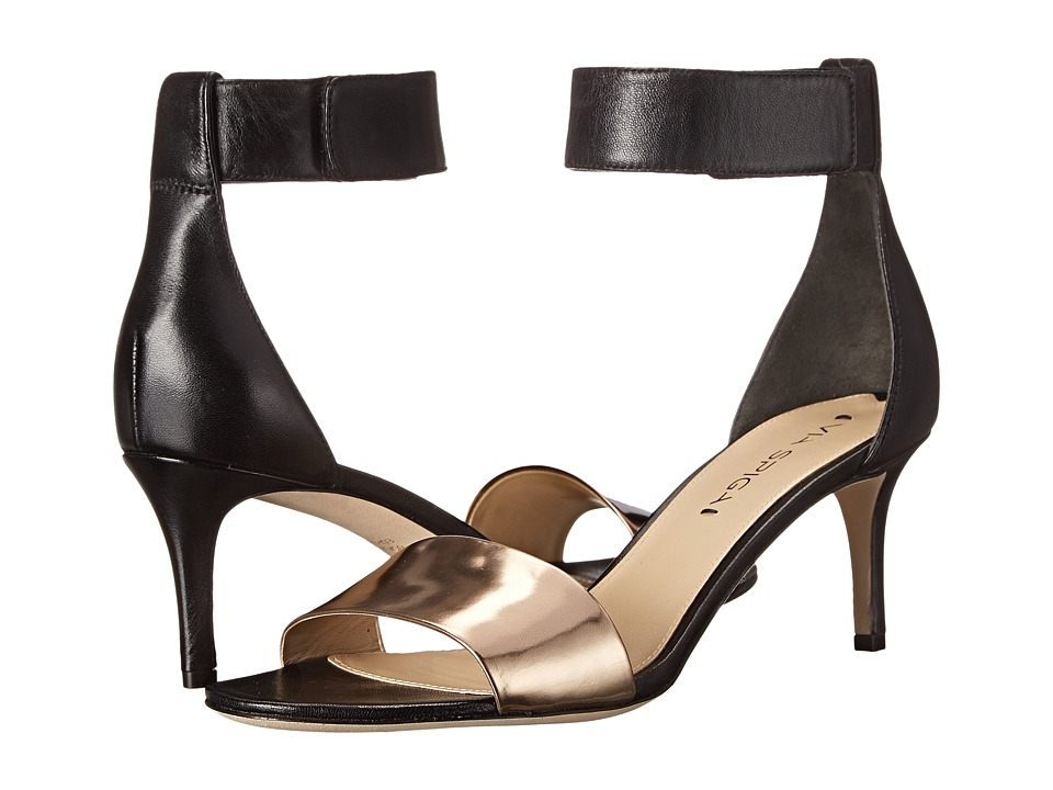 Via Spiga - Lae (Blush Gold/Black Specchio/Nappa) High Heels