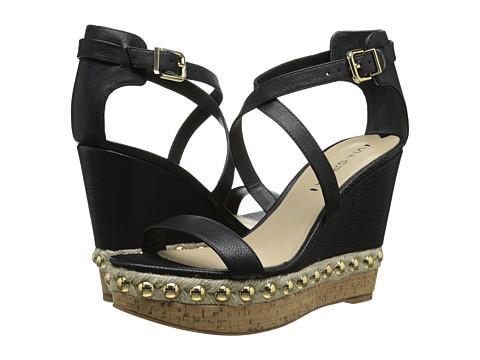 Via Spiga - Moss (Black Safari Calf) Women's Wedge Shoes