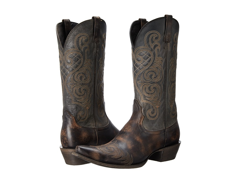 Ariat - Bright Lights (Rustic Black) Cowboy Boots