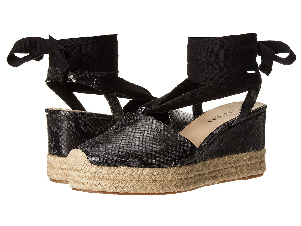Via Spiga - Ralina (Black Printed Snake/Sport Suede) Women's Wedge Shoes