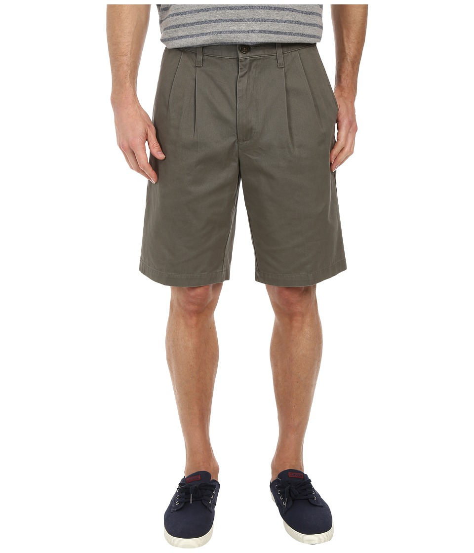 Dockers Men's - Soft Khaki Pleated Short (Oregano) Men's Shorts