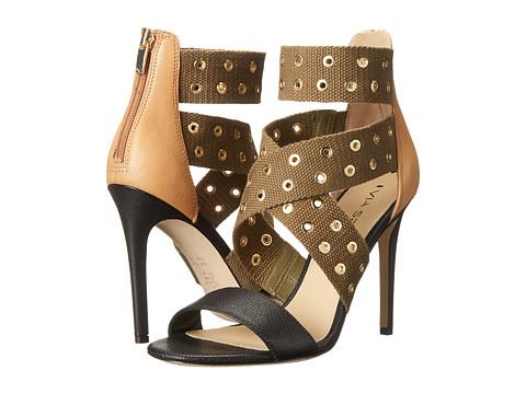 Via Spiga - Tashara (Black/Khaki/Natural Safari Calf) High Heels