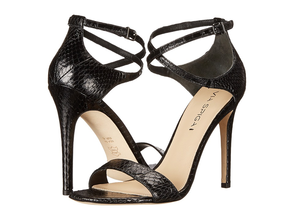 Via Spiga Tiara (Black Shiny Landsnake) High Heels