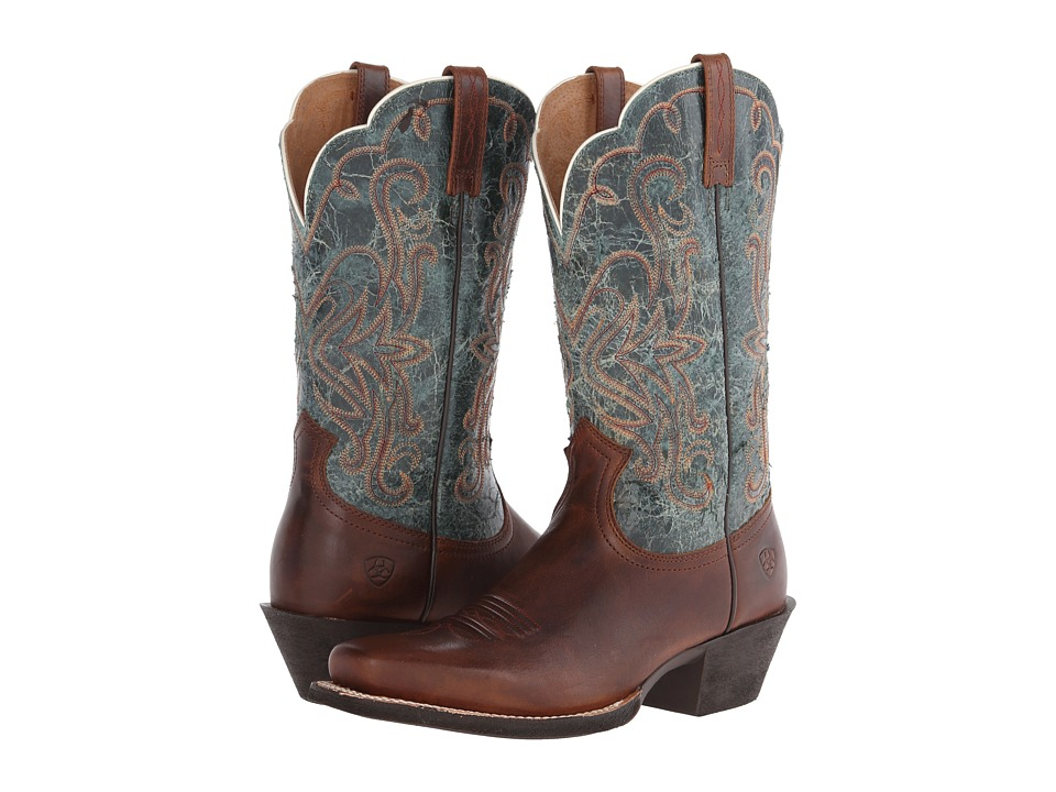 Ariat - Legend (Vintage Caramel/Piney Woods) Cowboy Boots