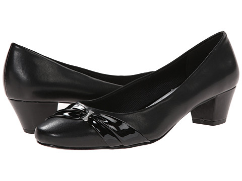 Easy Street - Evie (Black w/ Patent Overlay) Women's Shoes