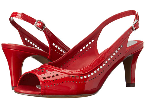 Easy Street - Bali (Bright Red Patent) Women's Shoes