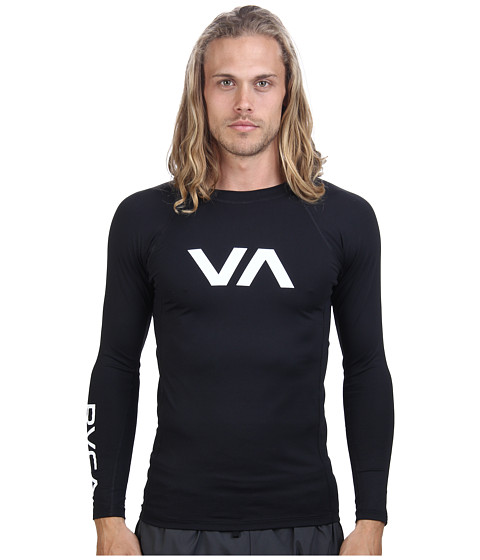 RVCA - VA Rashguard (Black) Men's Swimwear